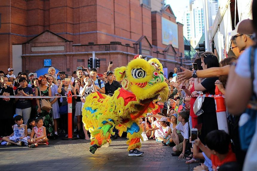 Chinese New Year celebrations in Sydney this year. Australia has about 1.2 million people of Chinese heritage - about 5 per cent of the population.