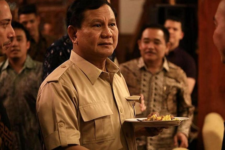The announcement of former army general Prabowo Subianto's presidential nomination took longer than expected.