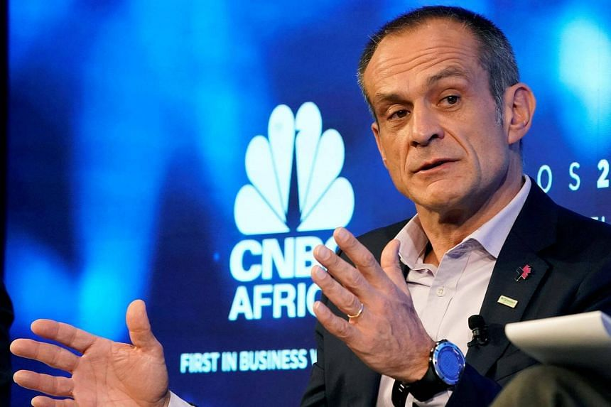 Jean-Pascal Tricoire, chairman and chief executive of Schneider Electric, at the World Economic Forum annual meeting in Davos, Switzerland on Jan 23, 2018.