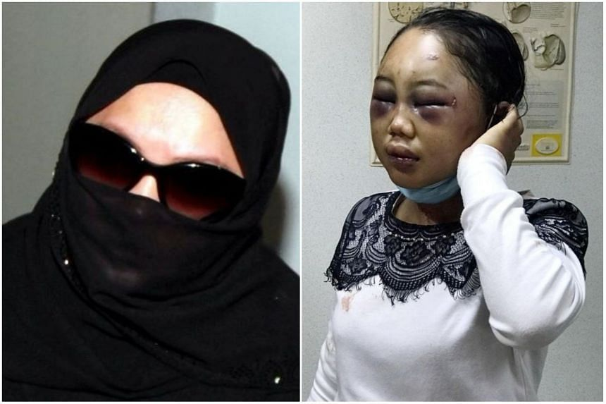 Rozita Mohamad Ali (left) will now have to serve an eight-year jail sentence for causing grievous hurt to her domestic helper Suyanti Sutrinso.