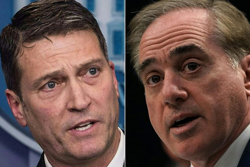 US President Donald Trump said he plans to replace the Department of Veterans Affairs secretary, David J. Shulkin (right), with Dr Ronny L. Jackson, the White House physician and a rear admiral in the Navy.