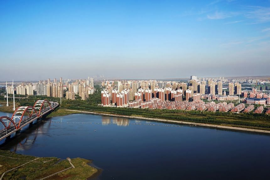 An aerial view of Keppel Corp's Sino-Singapore Tianjin Eco-City project in China. The landmark bilateral project between the governments of Singapore and China seeks to create a practical, scalable and replicable model for sustainable development f
