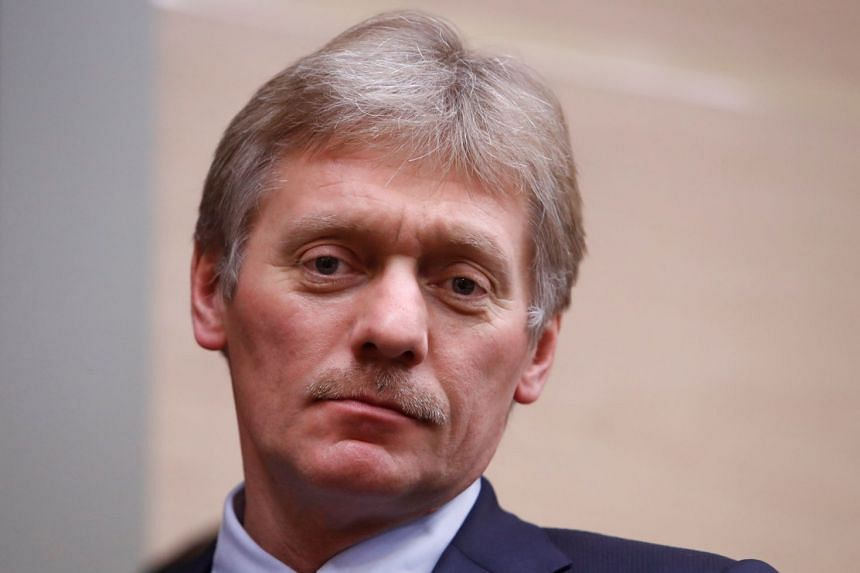 Peskov is seen ahead of Putin's annual state of the nation address on March 1, 2018.