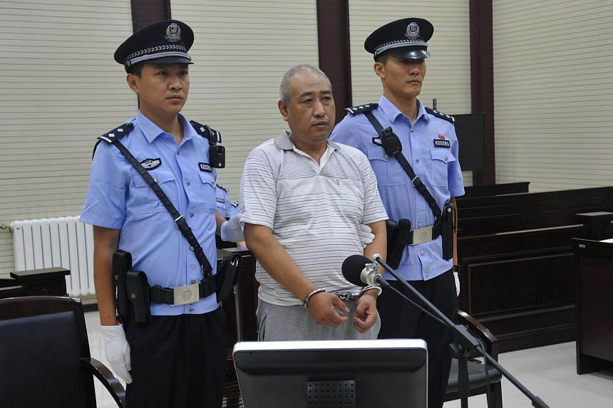 Gao Chengyong attends a trial at the Intermediate People's Court in Baiyin, Gansu province, China on July 18, 2017.