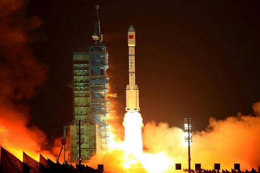 China's space agency said that the nearly eight-tonne Tiangong-1, or Heavenly Palace-1, will re-enter the atmosphere some time between March 31 and April 2, 2018.