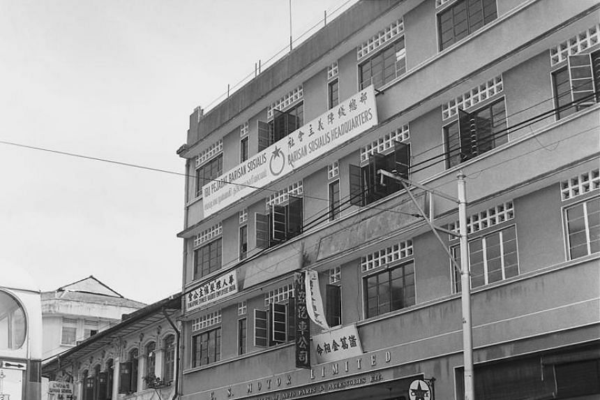 The Barisan Sosialis headquarters in Victoria Street, which was raided by the Singapore Special Branch during Operation Coldstore in 1963.
