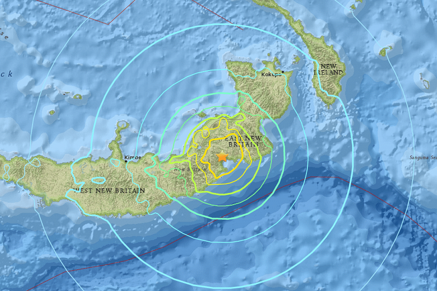 There were no immediate reports of casualties or damage from the shallow quake close to the coast, around 162km south-west of Rabaul.