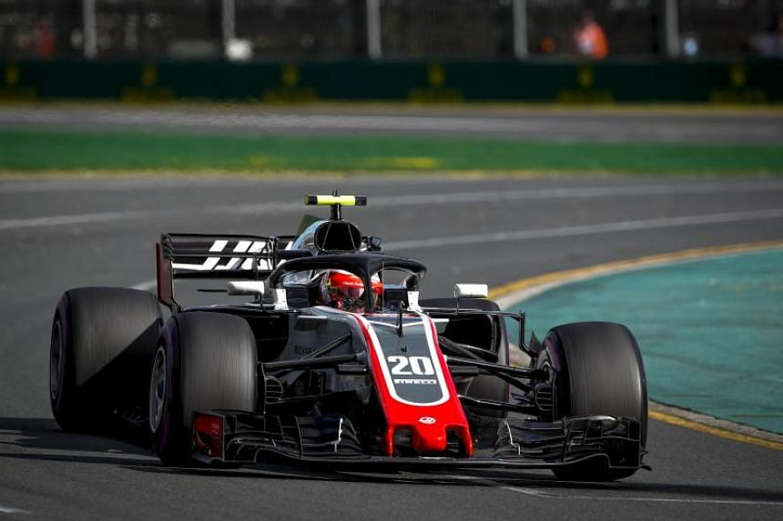 Formula One driver Kevin Magnussen of Haas F1 Team in action during the 2018 Formula One Australian Grand Prix at the Albert Park circuit in Melbourne on March 25, 2018.