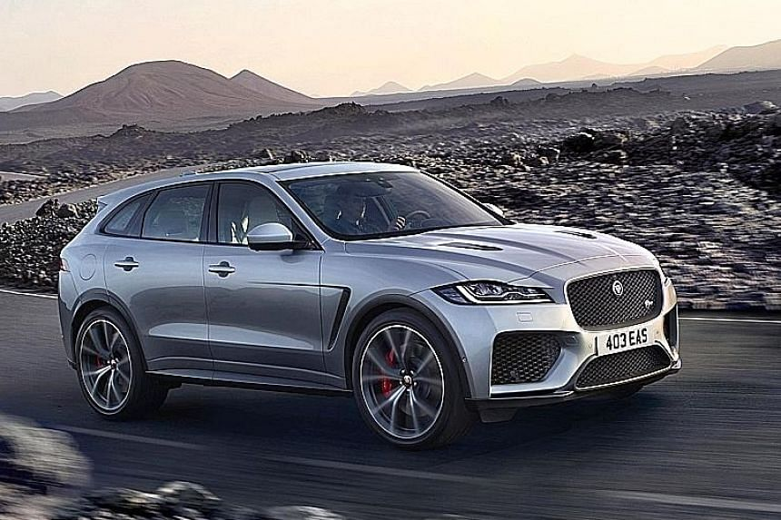 Jaguar has unleashed a souped-up version of its F-Pace.