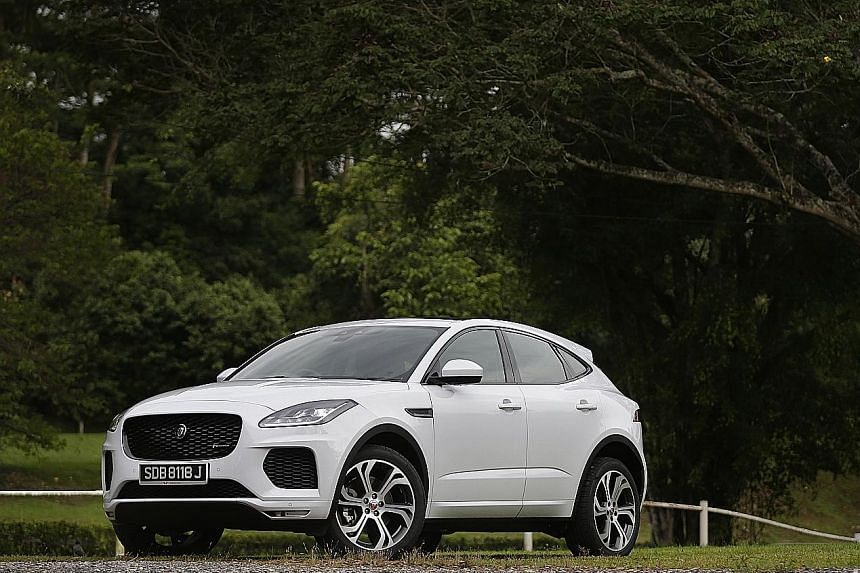 The fun and engaging E-Pace has the latest rendition of Jaguar's Touch Pro infotainment system with voice control and a multi-function steering wheel.
