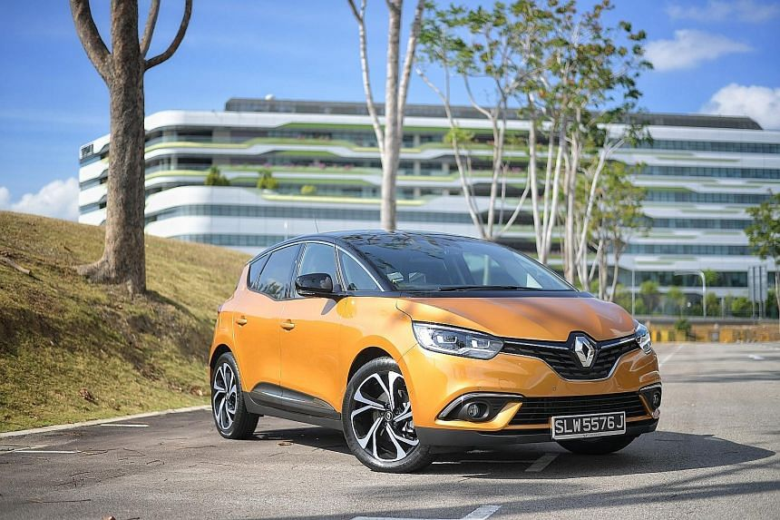 The good-looking Renault Scenic, which qualifies for a $10,000 tax rebate under the new Vehicular Emissions Scheme, has a spacious cabin.