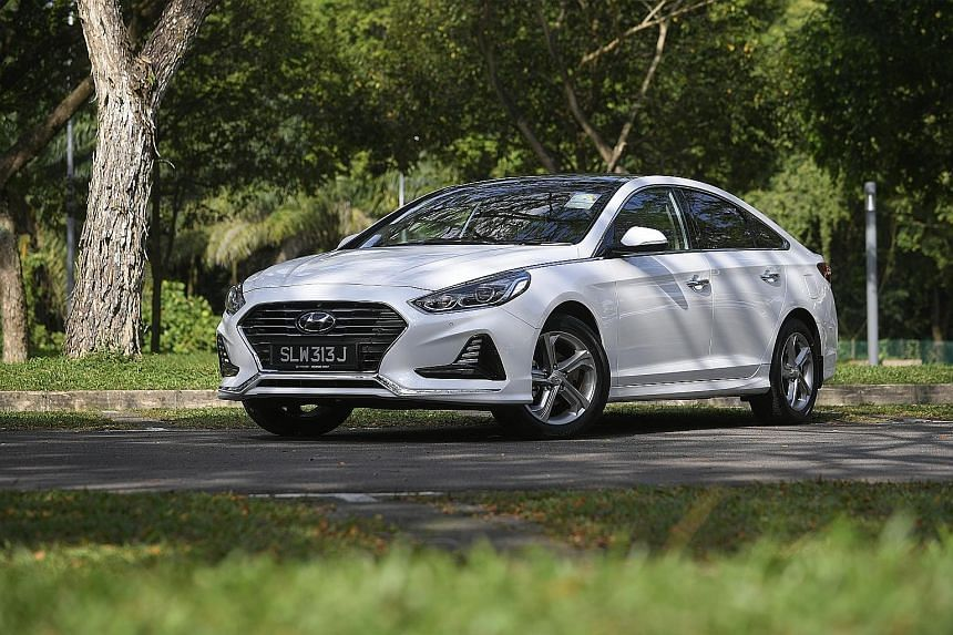 The Sonata's recalibrated suspension results in a more settled ride quality.