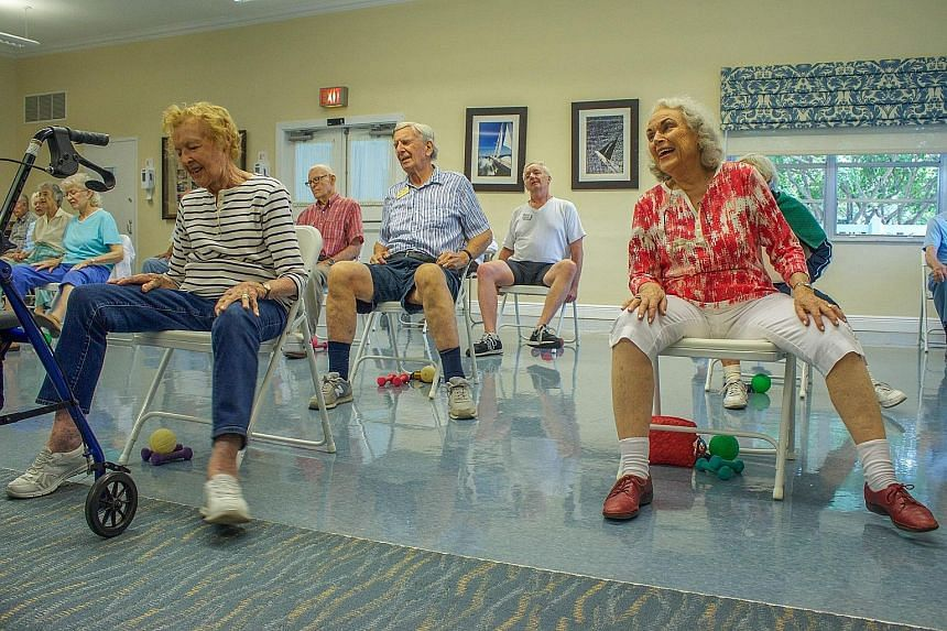 Seniors in a retirement home in Florida. Ten thousand people turn 65 in the US every day, GO BankingRates estimates.