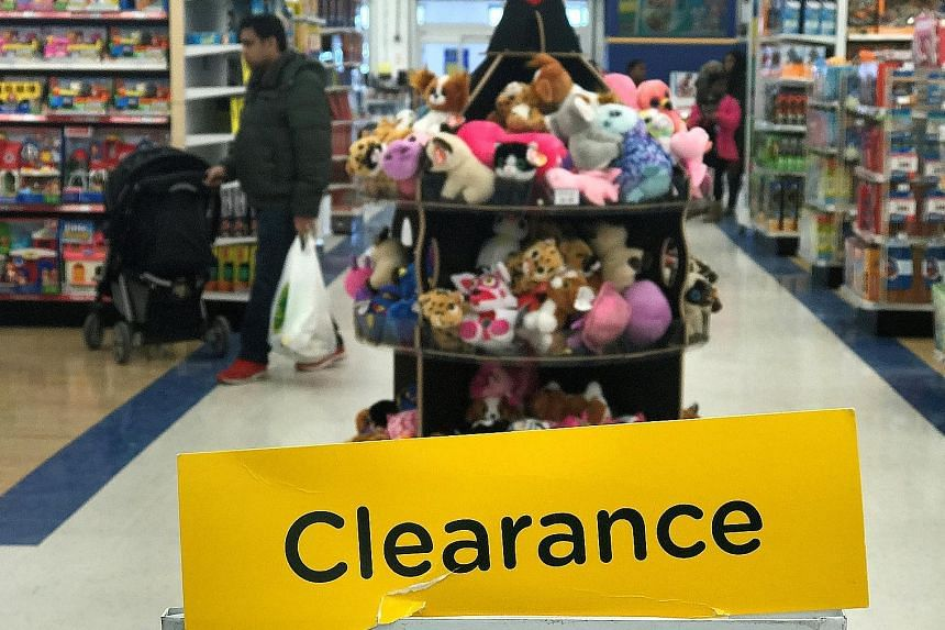 A Toys 'R' Us store in Ontario, Canada, earlier this month. On March 15, Toys 'R' Us announced it would shutter all its US and UK stores. The closings could dent Mattel's 2018 sales by as much as 10 per cent, and Hasbro's by up to 5 per cent, Bloombe