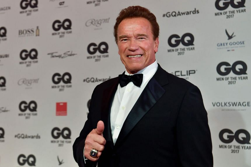 Schwarzenegger at the 2017 GQ Men Of The Year awards in Berlin, where he was honoured as Legend of the Century.