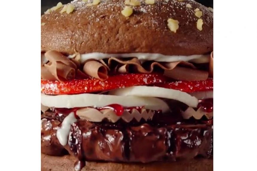 """Burger King Singapore's """"upcoming"""" Chocolate Whopper is likely an early April Fool's Day joke."""
