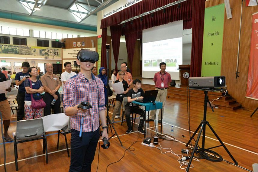 A virtual reality workshop on to transform a park connector into a Social Corridor was held in Woodlands' Greenwood Primary School on March 31, 2018.