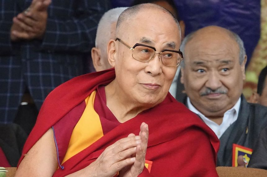 The Dalai Lama gestures during the Thank You India event near Dharamsala, India, on March 31, 2018.