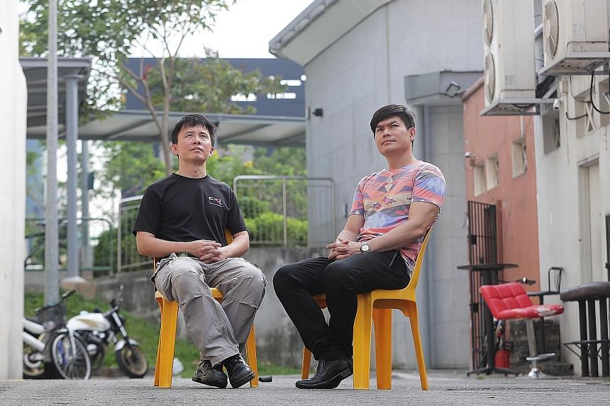 Technician Allan Ong (far left) and Mr Kyaneth Soo, who is now self-employed, were detained at the President's pleasure for about 13 years and six months each before being released in 2012. Z, the teen detained for knifing to death Ms Annie Leong und