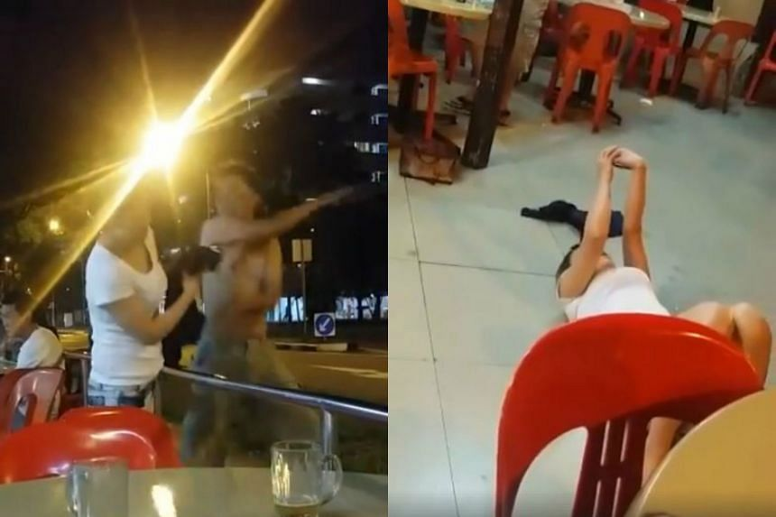 Many Facebook users were amused by the couple's bizarre actions, with some speculating that the woman had been taking a selfie and editing it while on the floor.