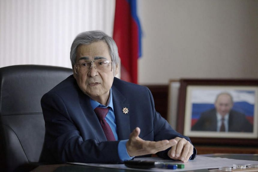 Governor of Kemerovo Region Aman Tuleyev (pictured) resigned over the mall fire that left more than 60 people dead.