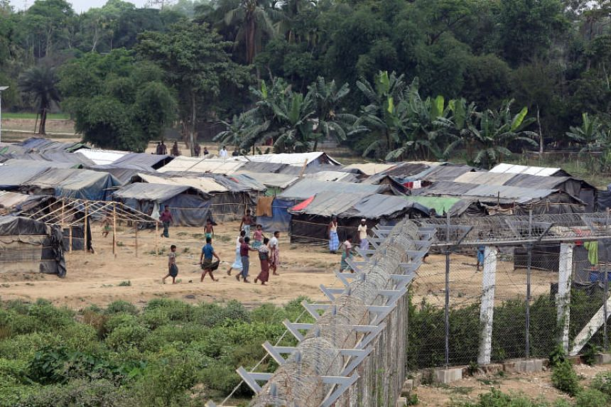 Rohingya who fled from their towns after violence in Rakhine State living in a camp in Maungdaw, Myanmar, on March 31, 2018.