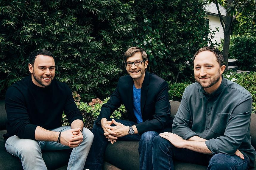 The team behind the new Mythos Studios comprises (from left) Scooter Braun, David Maisel and Scott Manson.