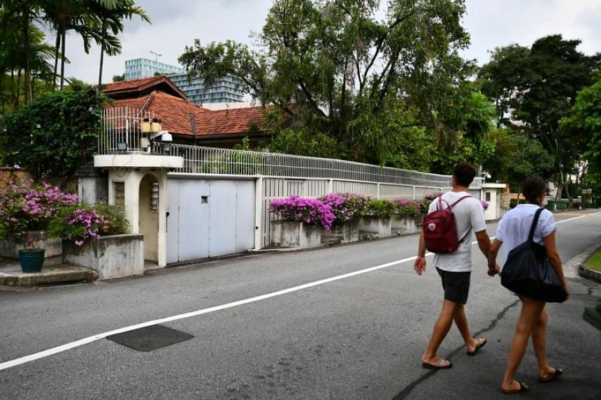 The home of former prime minister Lee Kuan Yew at 38, Oxley Road.