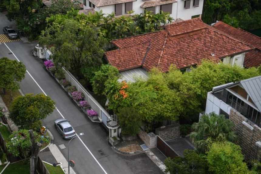 An aerial view of the house at 38, Oxley Road.