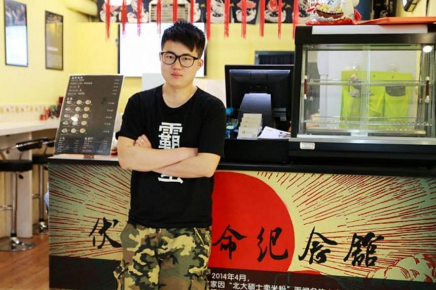 Since Zhang Tianyi (pictured) and three of his classmates founded Funiutang in 2014, and after several rounds of financing, its value is put at up to 500 million yuan (S$104 million).