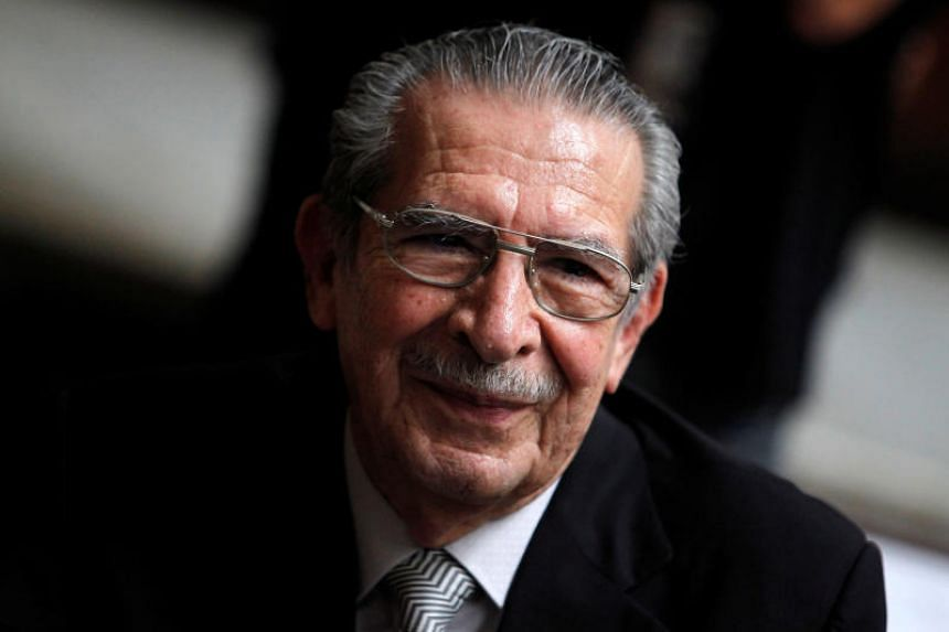 Former Guatemalan dictator Efrain Rios Montt at his genocide trial at the Supreme Court of Justice in Guatemala City, Guatemala on May 8, 2013.