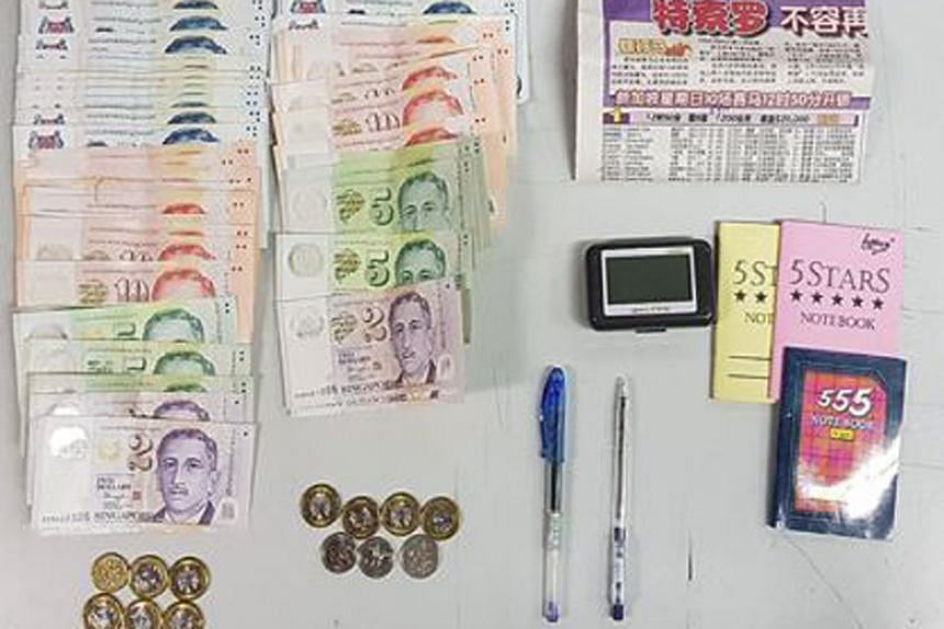 Cash amounting to about $8,000, mobile phones, pens, pagers and documents such as betting records were seized in islandwide raids which saw the 23 men arrested.