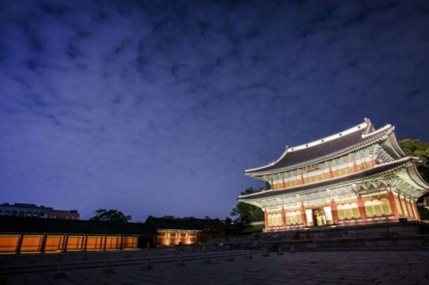 Nighttime view of Changdeokgung.