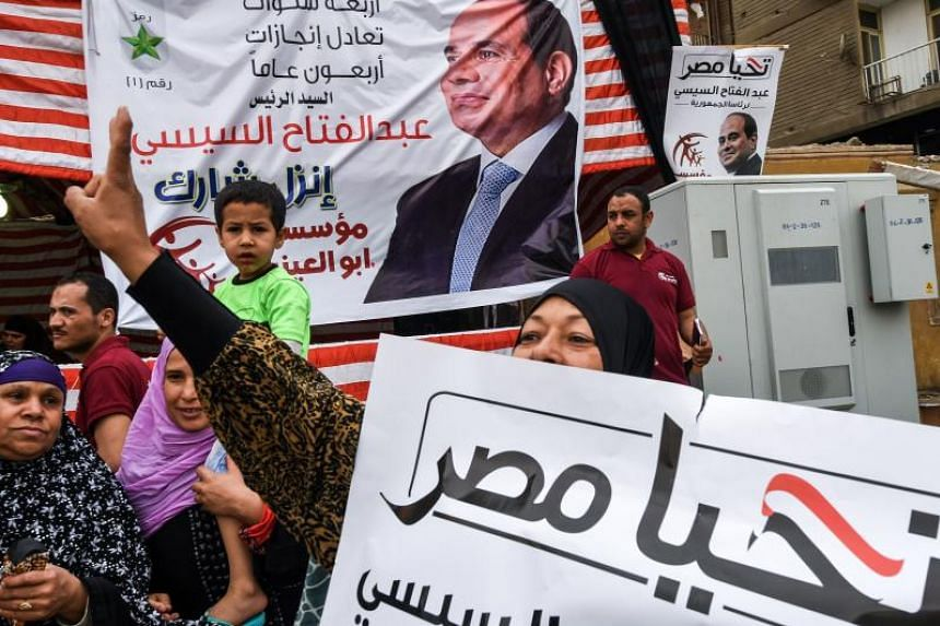 Egyptian President Abdel Fattah al-Sisi had been virtually guaranteed a landslide win, confirmed by early tallies.