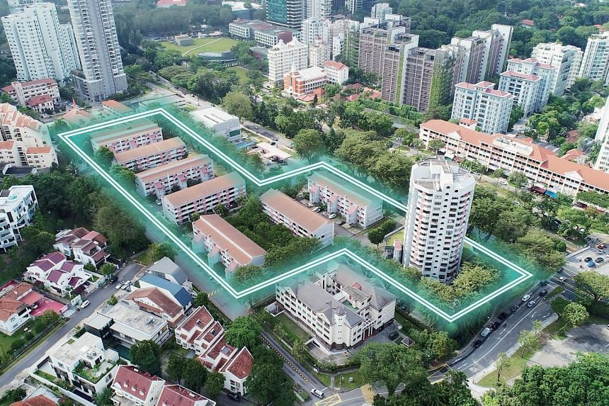 Chancery Court sits on a 99-year leasehold site in Dunearn Road with a land area of 259,134 sq ft, and is zoned residential with a gross plot ratio of 1.4 under the 2014 Master Plan. Redevelopment could yield up to 480 units, averaging 750 sq ft in s