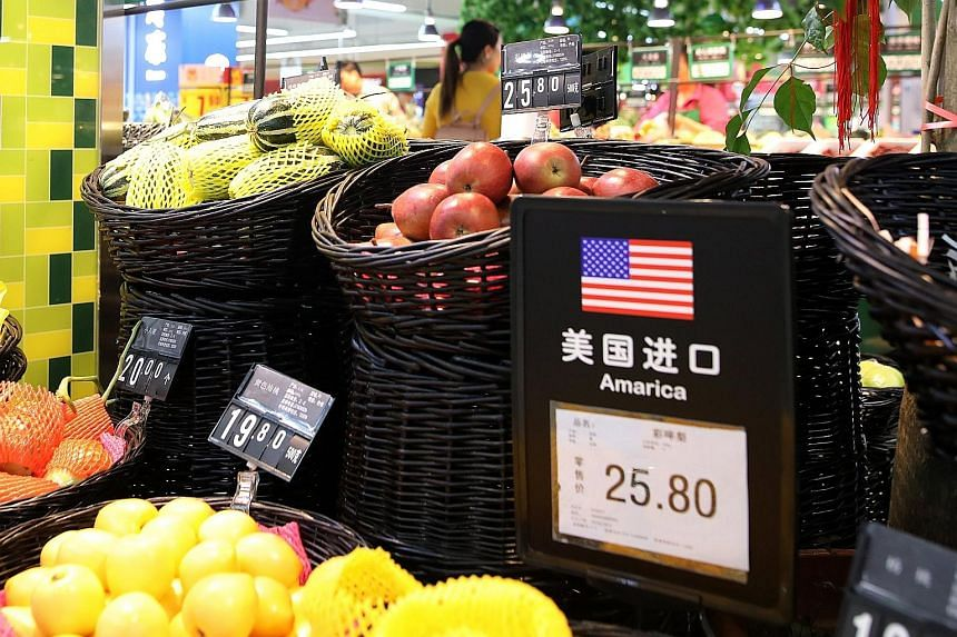 China has announced extra tariffs of up to 25 per cent on 128 US products including fruit. These will hit trade amounting to $3.9 billion, the equivalent of Chinese exports affected by new US tariffs on steel and aluminium.