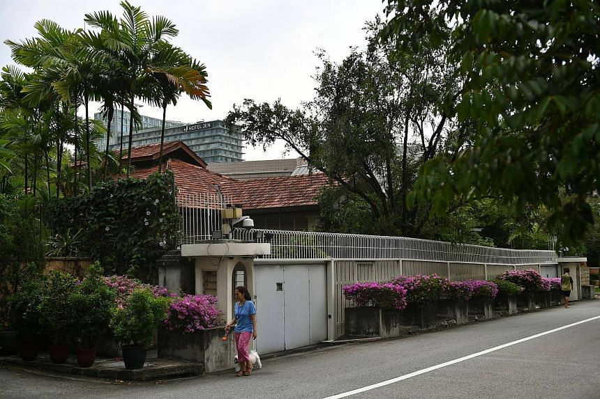 The home of former prime minister Lee Kuan Yew in Oxley Road.