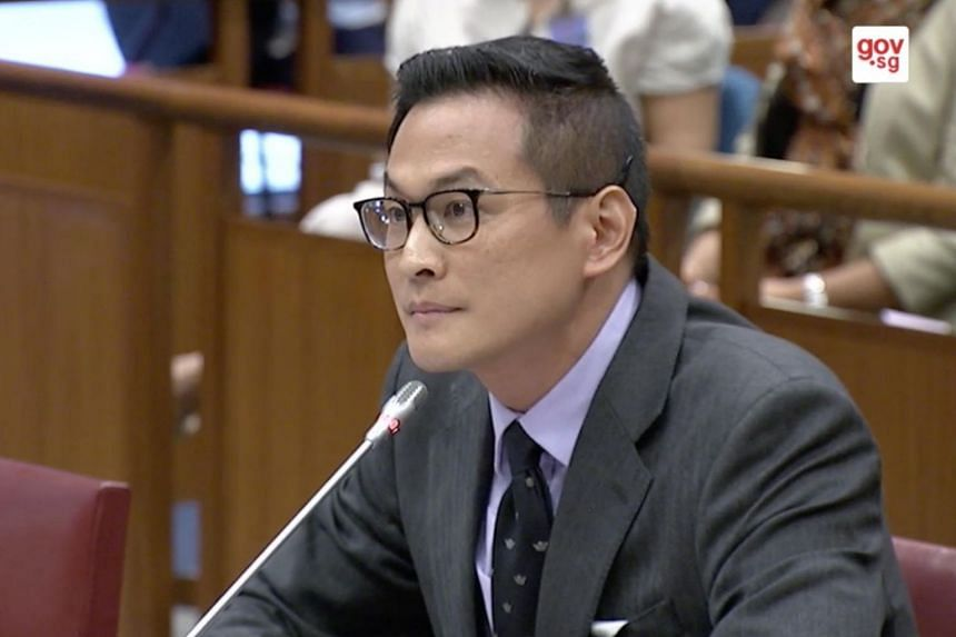Research fellow Thum Ping Tjin speaking at the Select Committee hearings on deliberate online falsehoods on March 29, 2018.