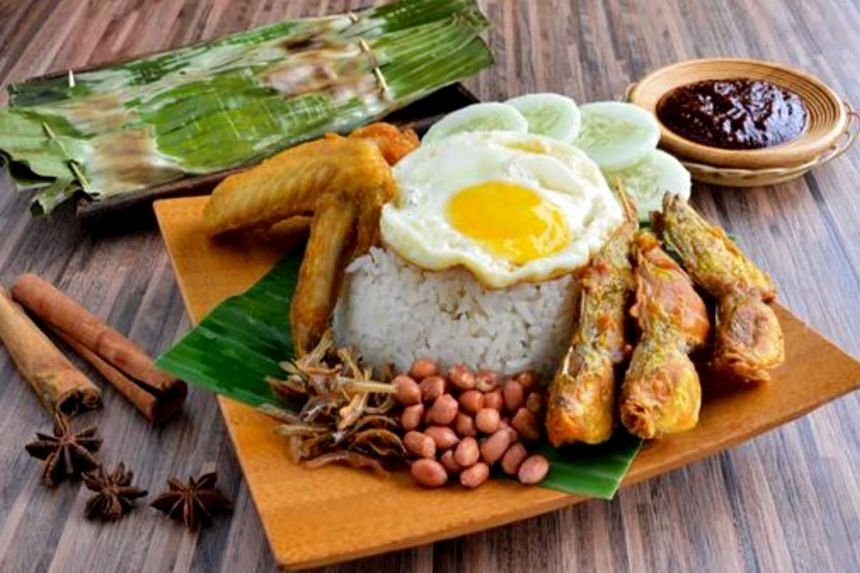 Nasi lemak set from Boon Lay Power Nasi Lemak