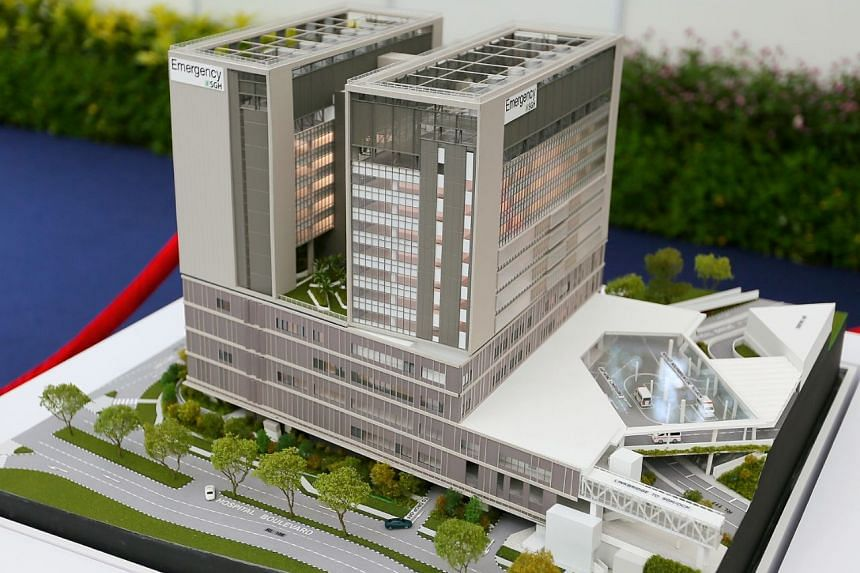 A model of SGH's new emergency medicine building that is expected to be completed in 2023.