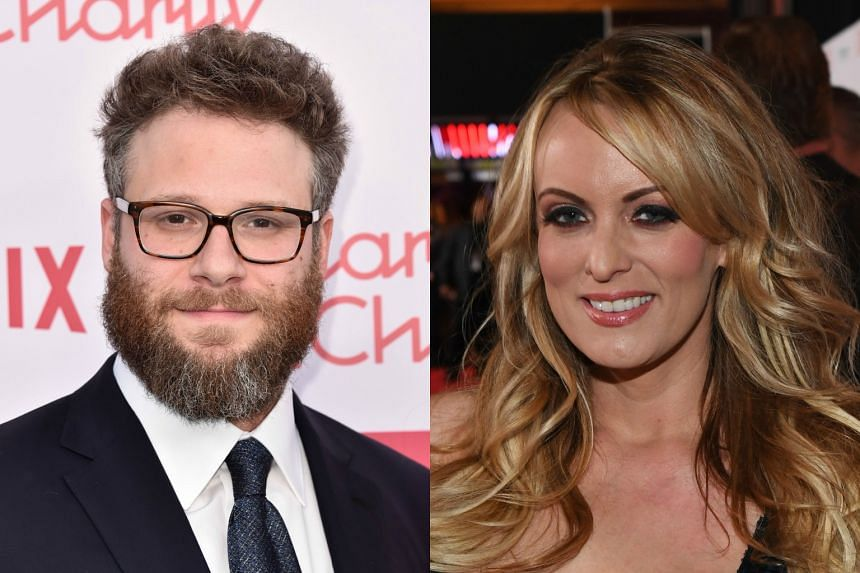 Seth Rogen (left), who has appeared in The 40-Year-Old Virgin and Knocked Up, two films that featured cameos by Stormy Daniels, said he has known about the affair for a long time.