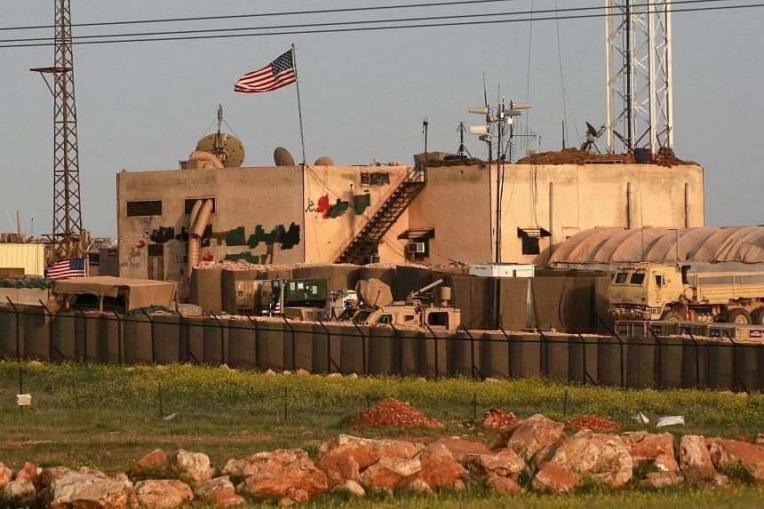 A US military base in the al-Asaliyah village, between the city of Aleppo and the northern town of Manbij in Syria.