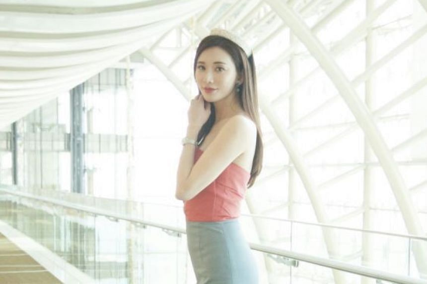 Chiling Lin wore tight-fitting clothes at the events she attended in Dubai last Saturday.