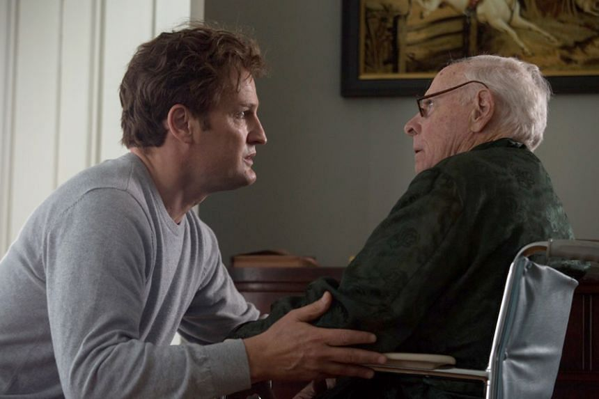 Jason Clarke (left) as Ted Kennedy and Bruce Dern as Joe Kennedy in Chappaquiddick.