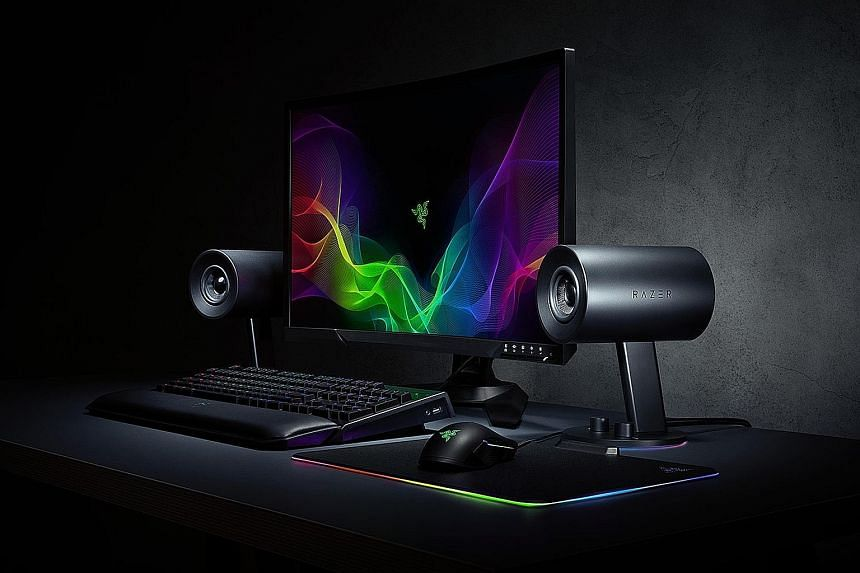 The Nommo Chroma's base can light up with a palette of 16.8 million colours, whether a menacing red, calming blue or a psychedelic purple-green mix.
