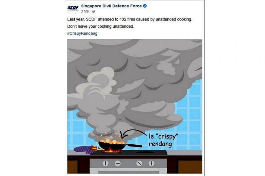 A screenshot of the SCDF's Facebook post.