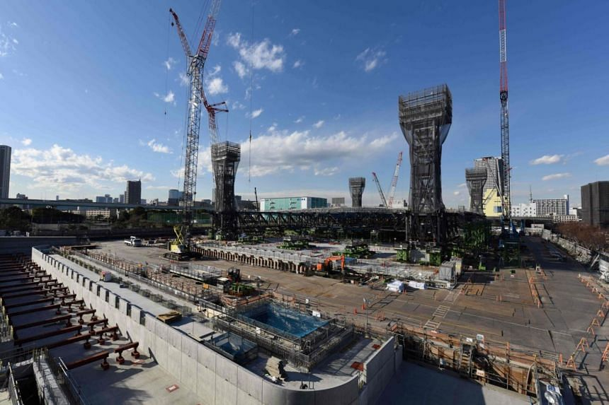 Tokyo is stepping up preparations for the next event on the Olympic calendar, with busy building sites dotted around the Japanese capital.