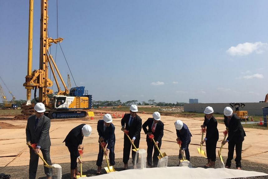 Semiconductor giant Micron on Wednesday broke ground in North Coast to add new cleanroom space to meet future manufacturing requirements for its 3D NAND flash memory products.