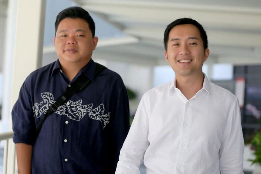 Former property agents Yao Songliang (left) and Terence Tan En Wei had pleaded guilty to four charges earlier in February and on April 3 were fined $15,000 per charge.
