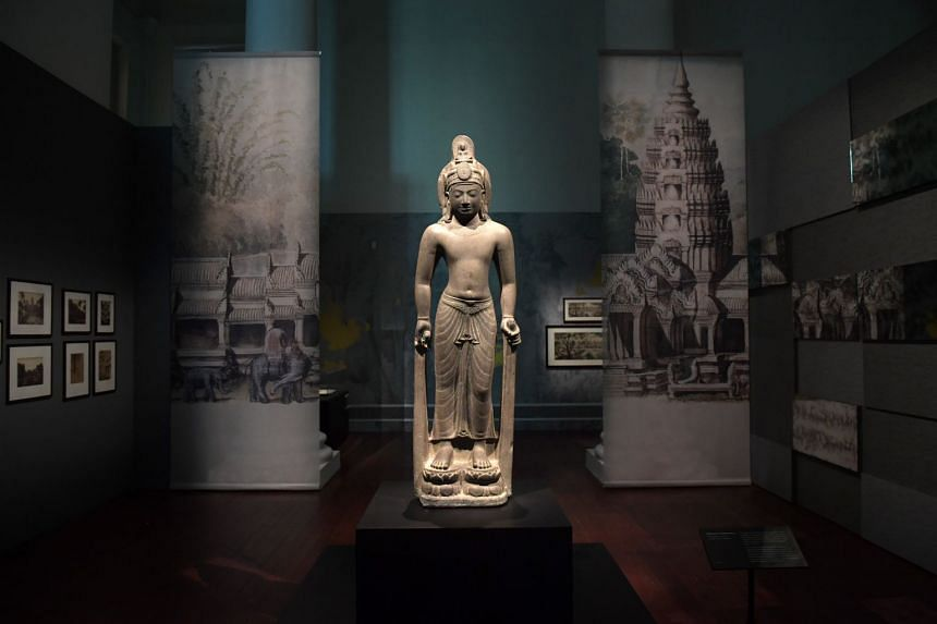 The exhibition has prime examples of Khmer art and architecture dating as far back as the 9th century, and also represents France's contribution to studying it.